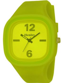 H0833.9SN - Henley H0833.9SN Womens Watch with Bright Yellow Dial and Yellow Silicon Strap