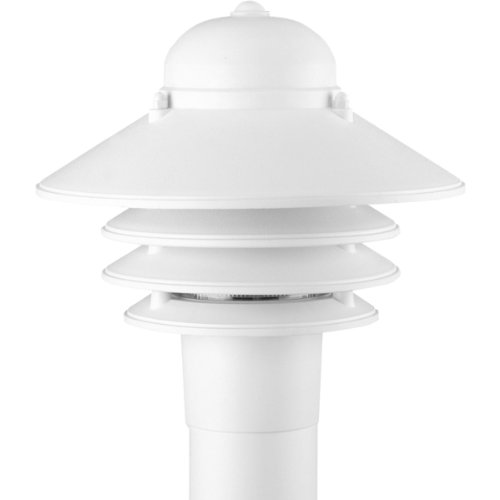 Progress Lighting P5444-30 Single-Light Plastic Post Mounted Fixture, White Acrylic Outdoor Post Mounted Lantern