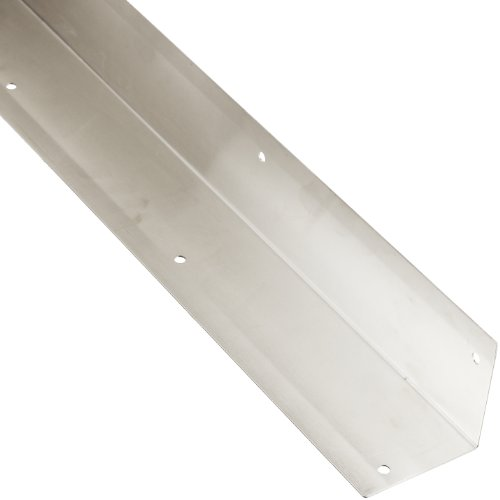 "Rockwood 295.32D 3 X 3 X 40 Stainless Steel Square Corner Guard, 3"" x 3"" Edge, 40"" Height, Satin Finish - 1"
