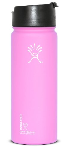 Hydro Flask Wide Mouth Stainless Steel Drinking Bottle With Hydro Flip Cap, Pinkadelic, 18-Ounce front-597784