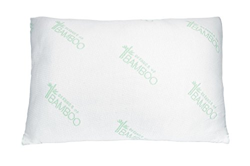 Bamboo Soft Poly Fill Pillow - Bamboo Pillow With Shredded Down Alternative and Stay Cool Cover (Queen) (Down Pillow Side Sleeper compare prices)