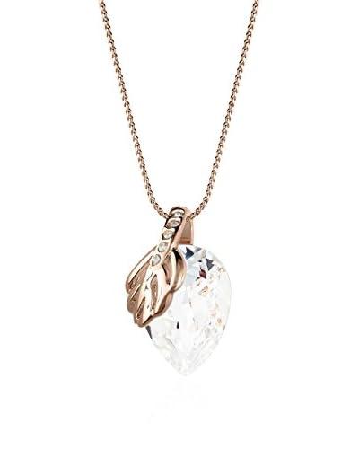 Annie Ram Collana Leaf And Pear Metallo Rosè
