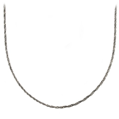 Sterling Silver 2mm Singapore Chain Necklace, 20""