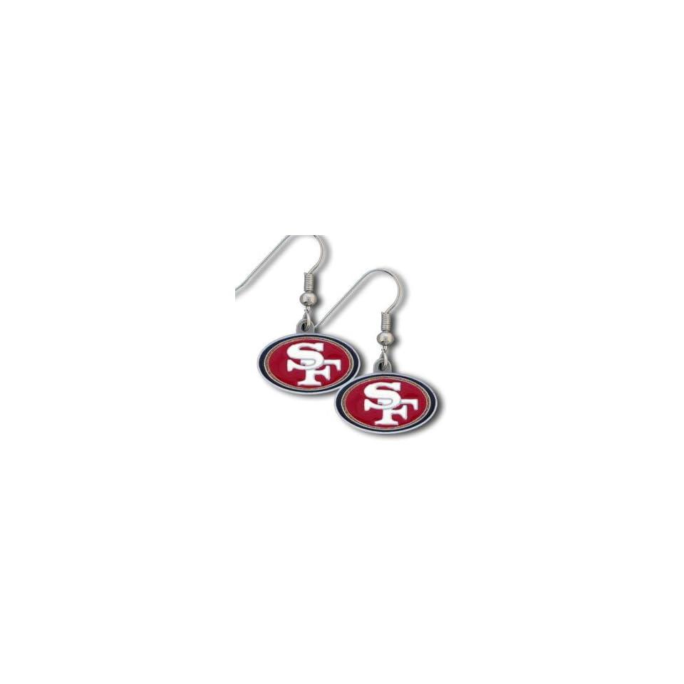 NFL Dangling Earrings   San Francisco 49ers Logo