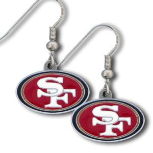 San Francisco 49ers Dangling Earrings - NFL Football Fan Shop Sports Team Merchandise