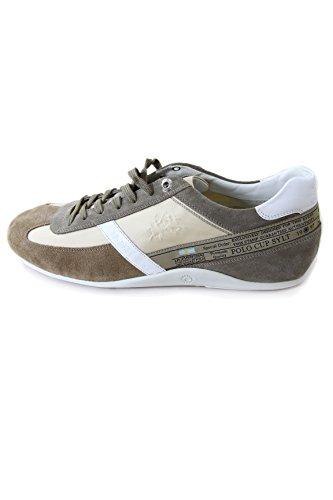 La Martina Suede/Textile Sneaker New Bomber Panna Made in Italy (46 EU, Panna)