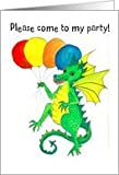 Green Dragon Party Invitation Card