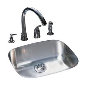 Kindred US1721/80K/E Single Bowl Undermount Sink, Stainless Steel