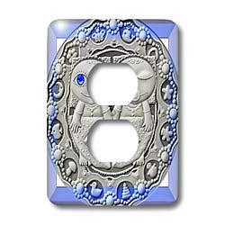Spiritual Awakenings Astrology - Zodiac Series Metal Gemini Look Art - Light Switch Covers - 2 plug outlet cover