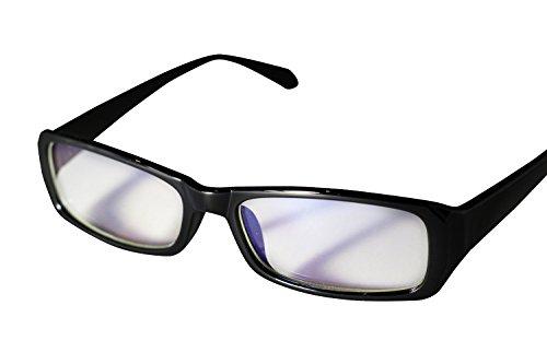 PENGIN PC(ペンギン ピーシー) 私はこれで十分 パソコン用 眼鏡 PCメガネ ブルーライト 青色光 カット メンズ レディース 伊達メガネ PENGINロゴ入りグロス&ケース&ドライバー 4点セット (ブラック)