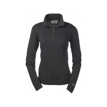 SMARTWOOL Ligth laine 195g/m2 1/2 zip Ss vetement tee-shirt ml femme noir