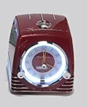 Ford Thunderbird Retro Neon Alarm Clock Radio with CD Player - Red