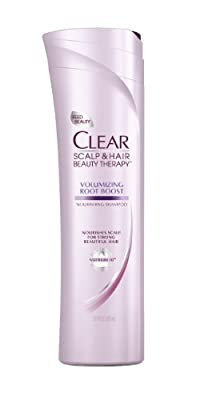 CLEAR SCALP & HAIR BEAUTY Volumizing Root Boost Nourishing Shampoo, 12.9 Fluid Ounce