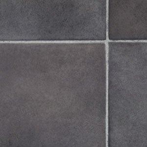 Black slate tile effect vinyl flooring 2mx2m kitchen vinyl for Black tile effect vinyl flooring