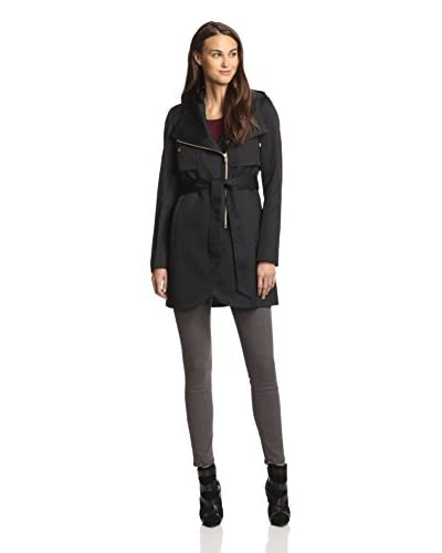 French Connection Women's Hooded Tulip Trench