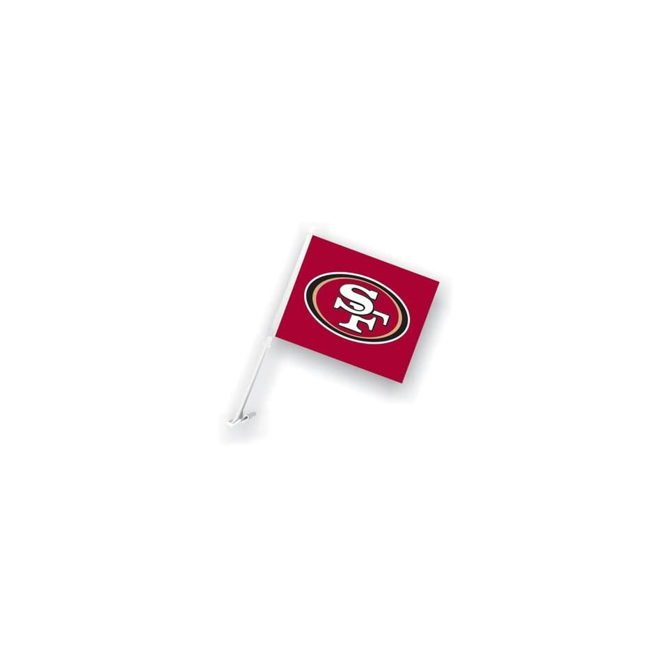 NFL San Francisco 49ers 11x14 Car Flags with Bracket ( Set of Two )