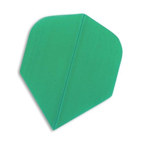 F4031 Green Poly Dart Flights 5 Sets pro Pack (15 Flights insgesamt).