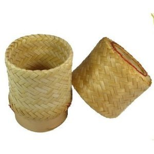 Thai Handmade Sticky Rice Serving Basket small Size (Sticky Rice Pot Only compare prices)