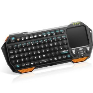 QQ-Tech® Newest Mini Wireless Bluetooth Keyboard Handheld with Multi-Touchpad for Android 3.0 + Tablet / Mac OS / Windows OS Google Nexus 7 / Google Android TV / iPhone 4 4S 3GS 3G / iPad / Samsung Galaxy S S2 S3 / HTPC / PC (Bluetooth HID)