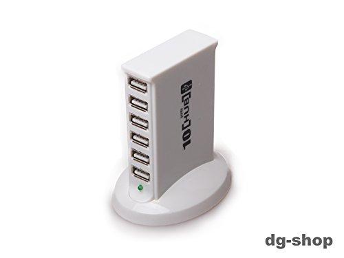 ty-07verticale 10porte USB 2.01.1LED attivo USB Hub ad alta velocità distribuzione vassoio display Alimentatore per PC Laptop Computer con 480Mbps Windows Mac Linux