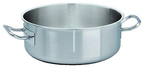 Cuisine et Talents - Sautoir Rondeau Inox Sans Couvercle - Diam 45Cm Ht 17Cm Capacite 27L