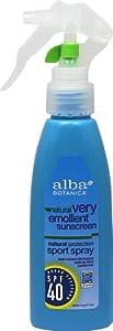 Alba Botanica Sport Spray Sunscreen SPF 40 4oz sun block