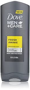 Dove Men Plus Care Body and Face Wash, Fresh Awake, 13.5 Ounce