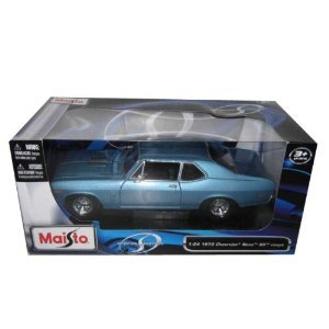 Maisto 1970 Chevrolet Nova SS Coupe Hard Top 1/24 Scale Diecast Model Car Blue (Diecast Car Models compare prices)