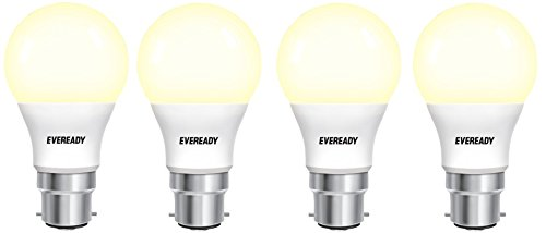 Eveready 5W B22D 450L LED Bulb (Warm White, Pack Of 4)