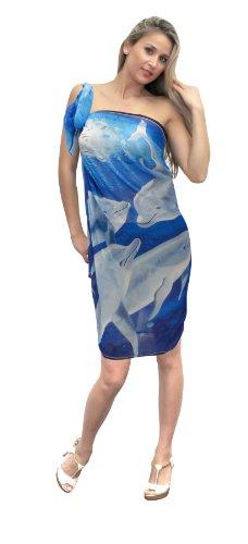 La Leela Blue Color Sarong