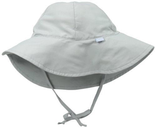 I play. Baby Brim Sun Protection Hat, Gray, 9-18 Months