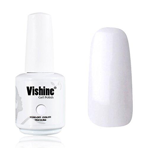 Vishine-Gelpolish-Professional-Manicure-Salon-UV-LED-Soak-Off-Gel-Nail-Polish-Varnish-Color-French-White-1323