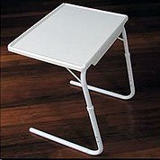 "Adjustable TV Tray - Table Mate Classic - Medium (White) (21-3/4"" - 29-1/4""H x 23""W x 17""D)"