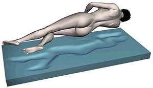 Gel / Gelschaum Matratze Gelmatratze 80 / 90 / 100 x 200 cm Höhe 18 cm, 8 cm Gelschaum Raumgewicht RG 85 soft / weich = Schlafen wie auf dem Wasserbett ohne seine Nachteile  Kritiken und weitere Infos