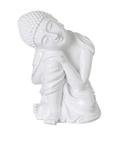 Figura Decorativa Buda Blanco