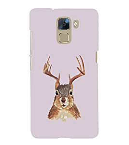 EPICCASE Squireel with horns Mobile Back Case Cover For Huawei Honor 7 (Designer Case)