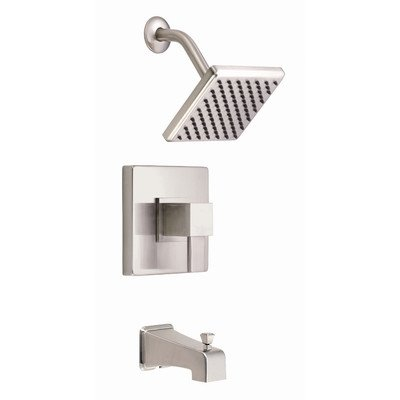 Danze D510033BNT Reef Tub and Shower Trim Kit, Brushed Nickel, Valve Not Included