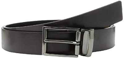 Calvin Klein Men's Reversible Gunmetal Dress Belt