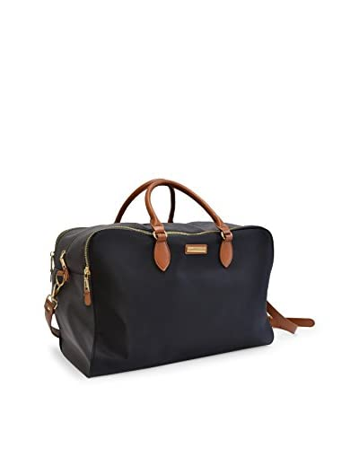 Adrienne Vittadini 22 Triple Zippered Nylon Duffel, Black