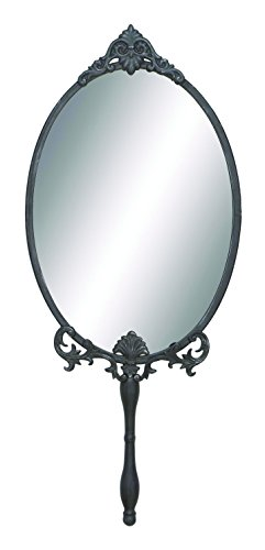 Benzara 93722 Unique Metal Wall Mirror With Intricate Carved Accents front-902666
