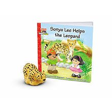 Fisher-Price Little People Zoo Talkers Book & Figure Set Sonya Lee Helps the Leopard - 1