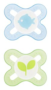 MAM Silicone Start Pacifier, Boy, 2-Count