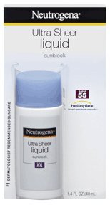 Neutrogena Ultra Sheer Liquid Daily Sunblock, SPF 55, 1.4 Ounce