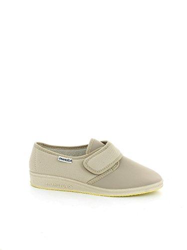 Pantofola in tessuto traspirante elasticizzato beige N. 37