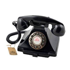 Classical GPO 1929S Carrington Push Button Telephone - Black picture