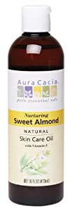 Aura Cacia Nurturing Sweet Almond Natural Skin Care Oil, 16-Ounce Bottle