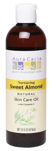 Aura Cacia Nurturing Sweet Almond Natural Skin Care Oil, 16-Ounce Bottle (Natural Almond Oil compare prices)