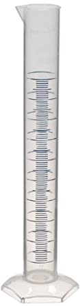 CapitolBrand Polypropylene Class B Graduated Cylinder with Molded and Printed Graduations