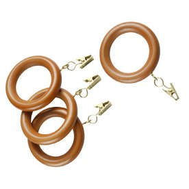 Wooden shower curtain rings
