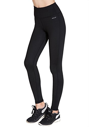 Aenlley Women's Activewear Yoga Pants High Rise Workout Gym Spanx Tights leggings Color Black Size XL